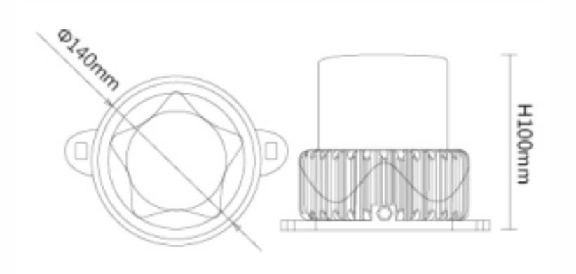 P140X3物理尺寸