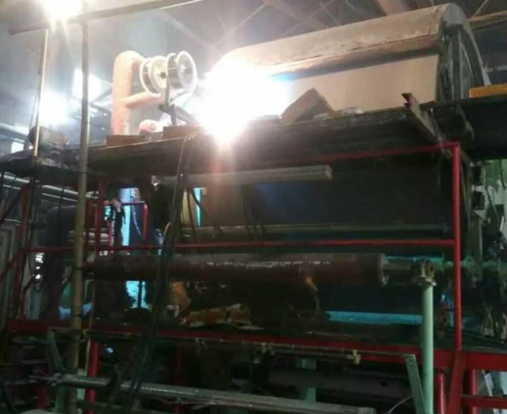 造纸厂烘缸表面强化喷涂案例