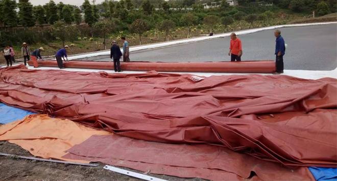 四川红泥膜沼气池工程施工案例
