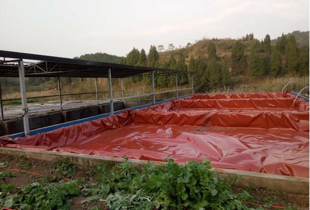 四川红泥膜沼气池