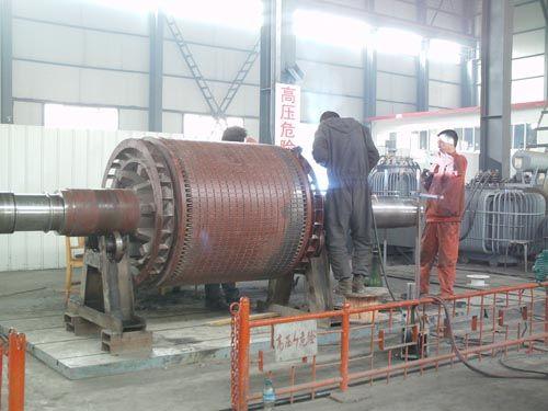 西安蘭電電機公司維修之4800kw轉子修理