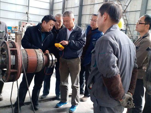 春节刚过,三新电机就为用户抢修了一台汽轮发电机