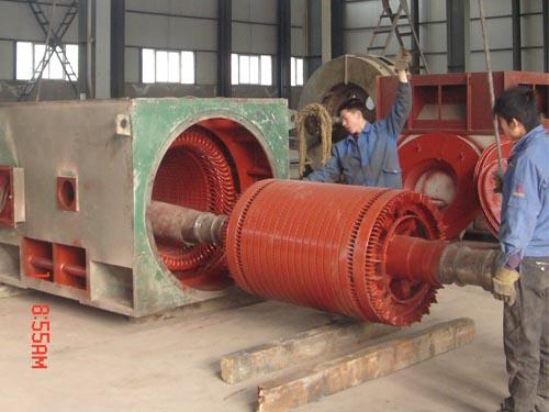 大直流维修_2800KW电机解体、抽芯