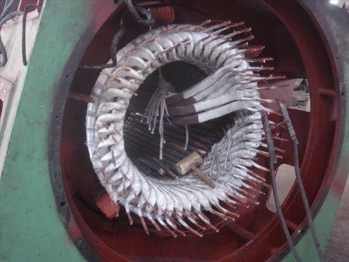 3200KW电机更换线圈