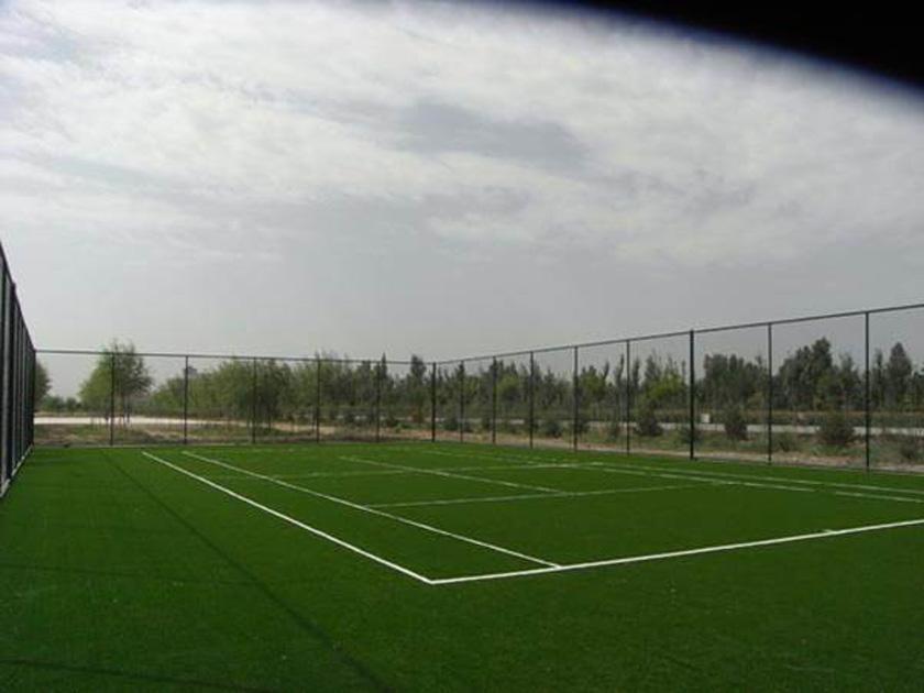 张掖湿地公园网球场
