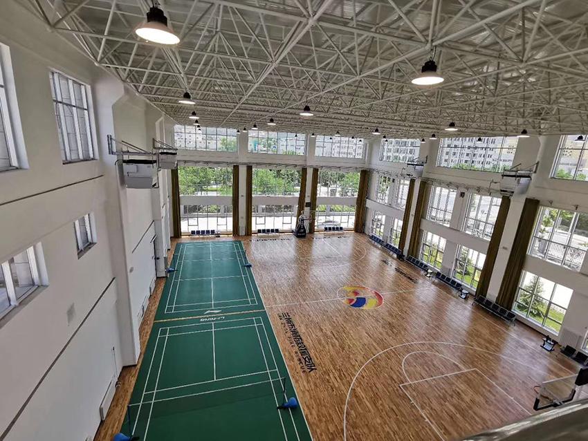 兰州龙田体育承建兰州消防救援支队室内体育馆建设完工