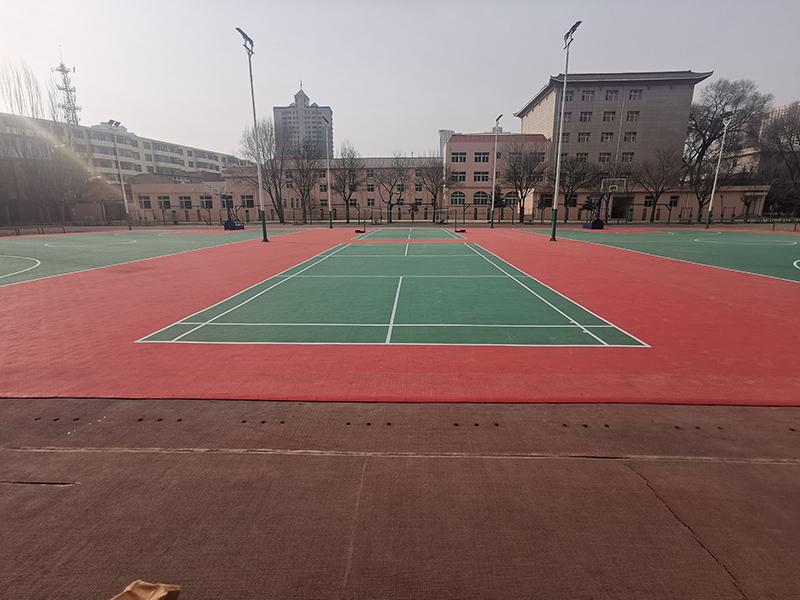 青海省军区篮球场地悬浮地板