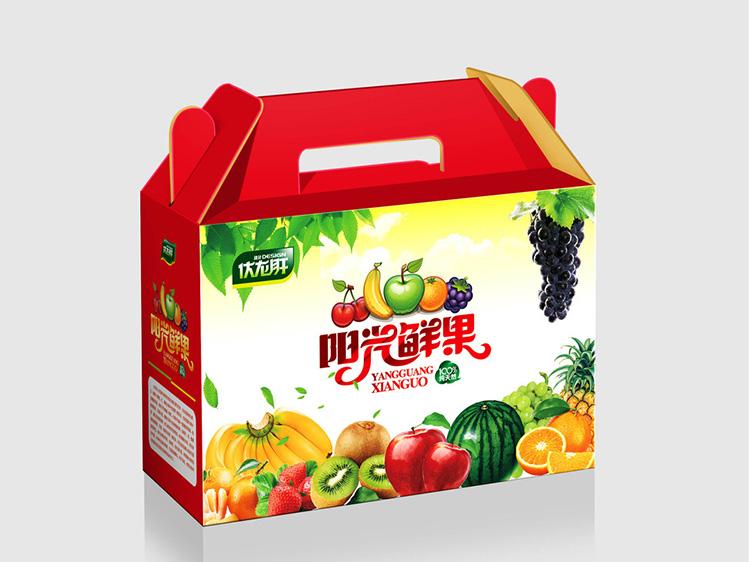 阳光鲜果礼品箱