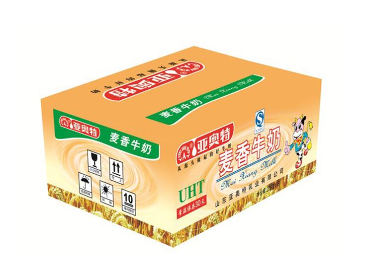 麦香牛奶保鲜包装箱