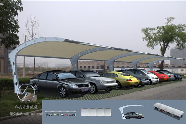 膜结构车棚施工