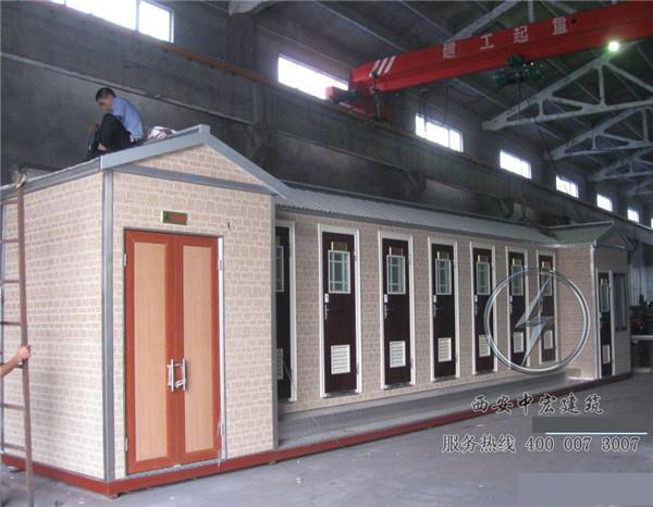 泡沫封堵型移动厕所安装