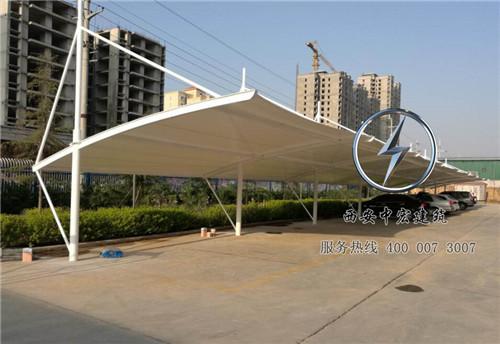 膜结构车棚厂家,陕西日新化工膜结构车棚案例