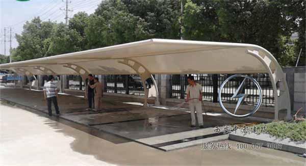 对于西安膜结构车棚再裁剪的时候时应注意的问题!