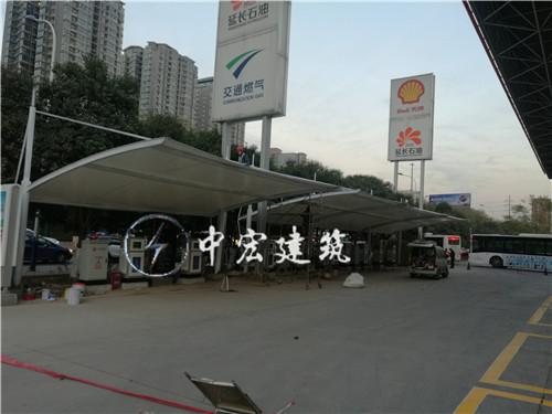 壳牌加油站充电桩膜结构车棚