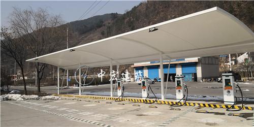 国家电网充电桩膜结构车棚