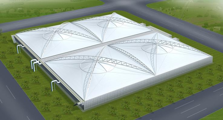 西安沼气污水膜结构安装