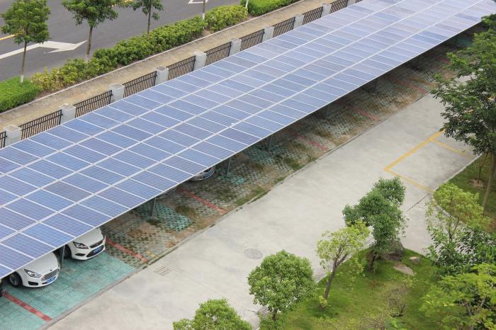 西安太阳能车棚安装工程