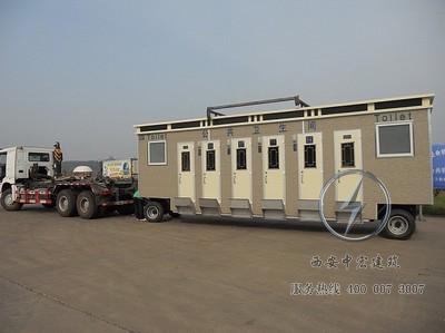 陕西车载拖车型移动厕所设计