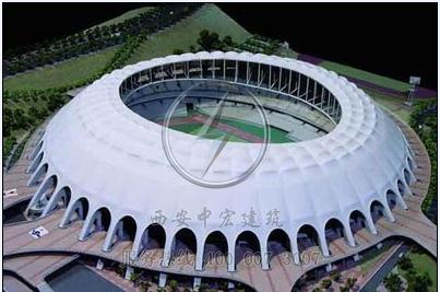 定制轻钢膜结构体育场馆