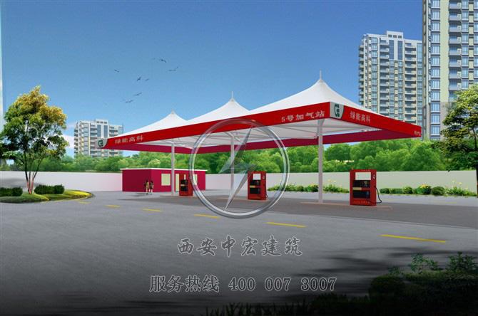 专业承接大型膜结构工程高速公路膜结构加油站