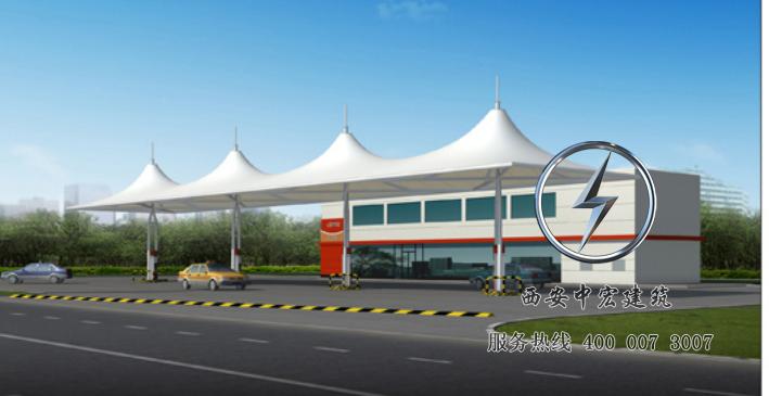 厂家承接大型膜结构加油站