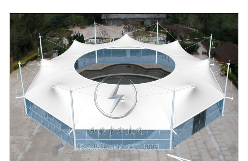 沼气池除臭加盖膜结构反吊膜工程
