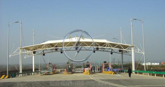加油站张拉膜结构顶棚收费站膜结构