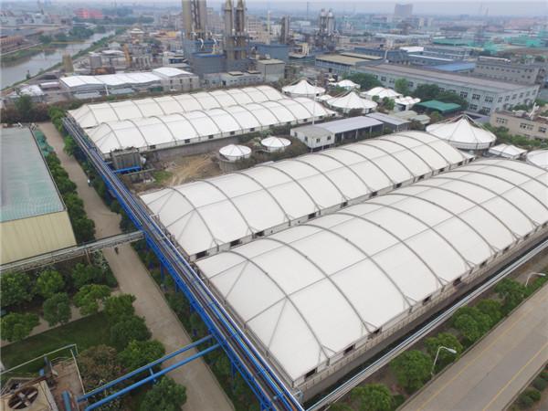 污水处理厂膜结构,膜结构加盖顶棚