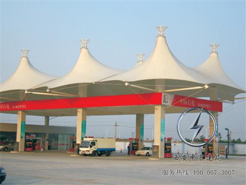 中国石化加油站膜结构,值得的信赖!