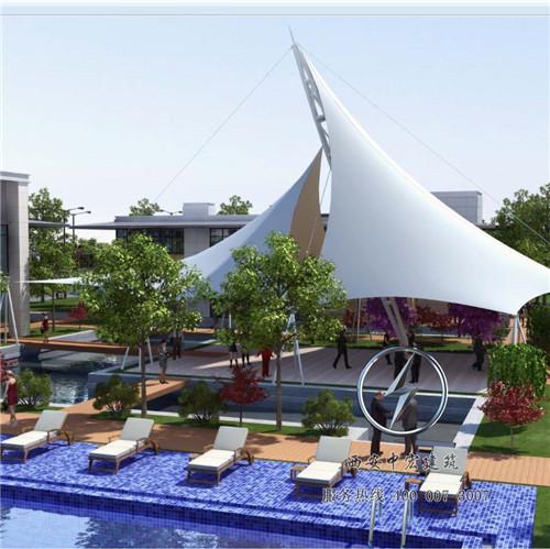 公园张拉膜结构设计