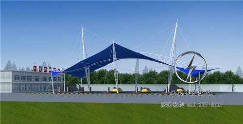 机场停车场膜结构