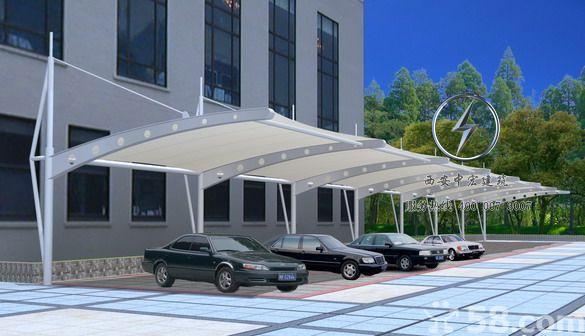 膜结构车棚采光顶要比传统玻璃轻优势明显