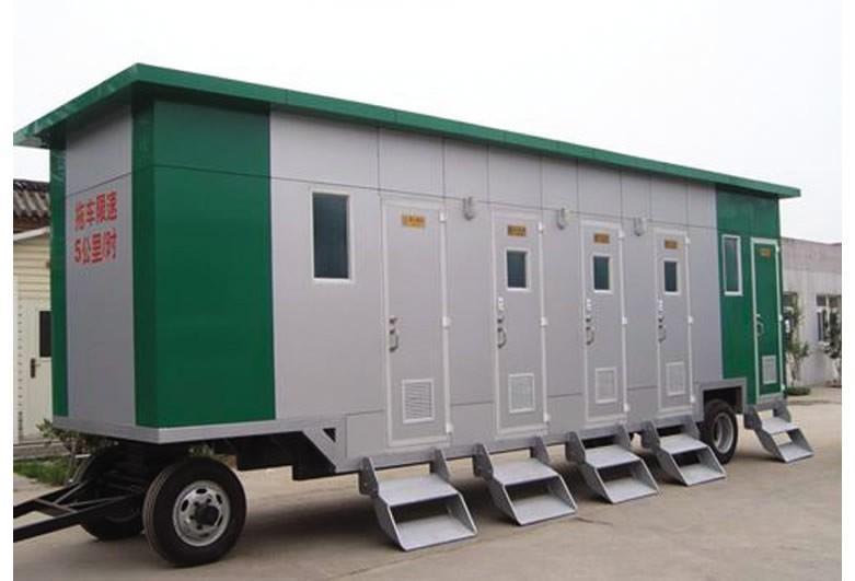陕西车载拖车行移动厕所设计