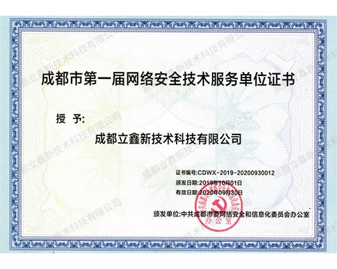 网络安全技术服务单位