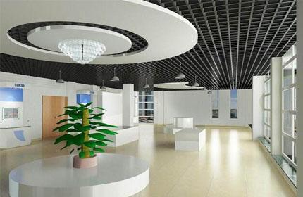 室内展厅设计效果图