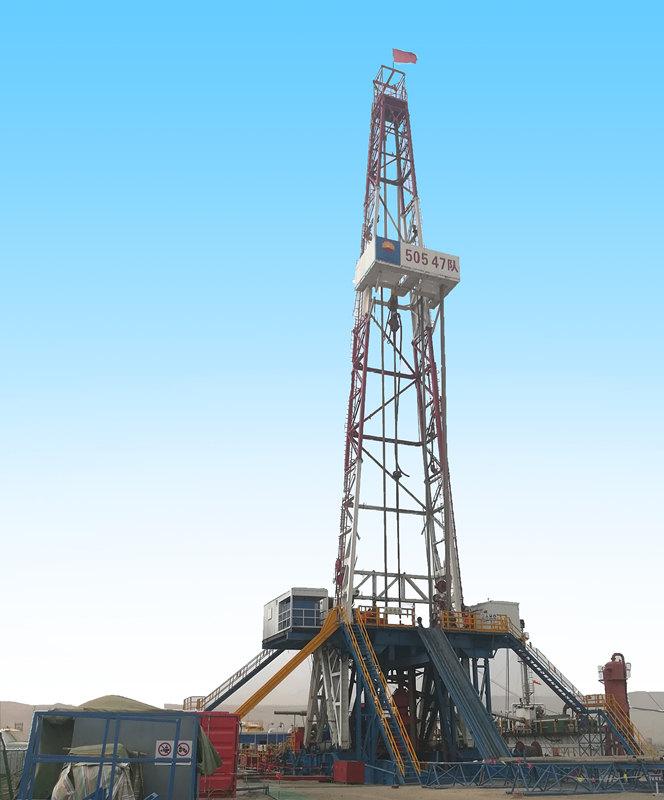 ZJ50/3150LDB钻机在新疆吐鲁番市鄯善县作业