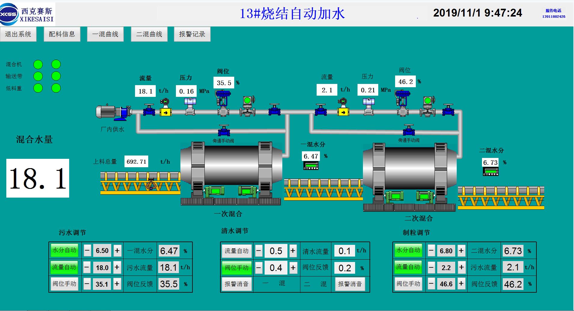 自動加水系統控制原理及內容