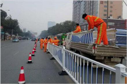 汉中道路护栏施工案例