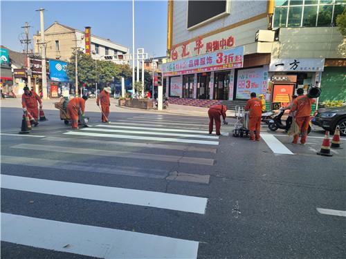 西乡县城区标线施划