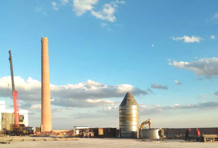 热力公司2*20吨链条炉  袋除尘+双碱法+SNCR
