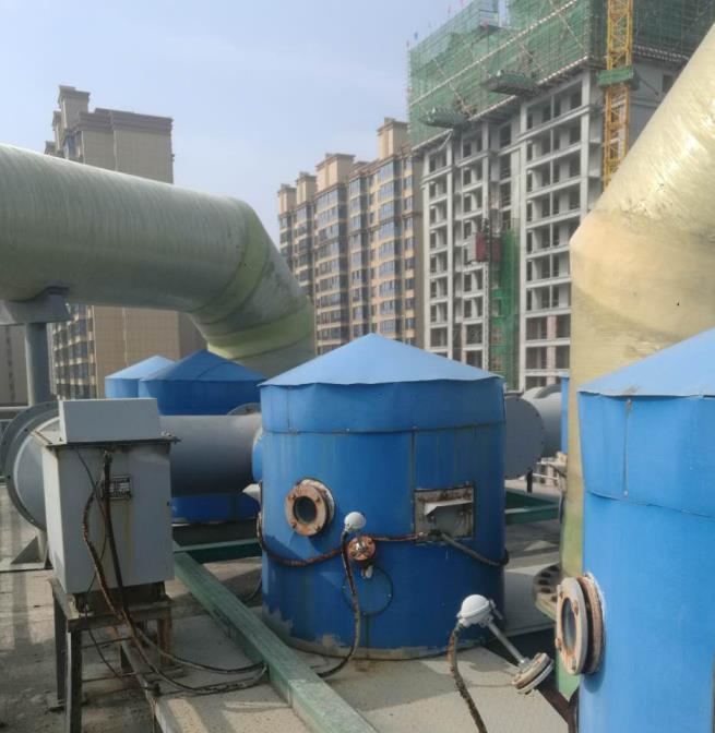 城东热力除尘脱硫脱硝 2×20吨链条炉预除尘+双碱法+湿电+SNCR脱硝