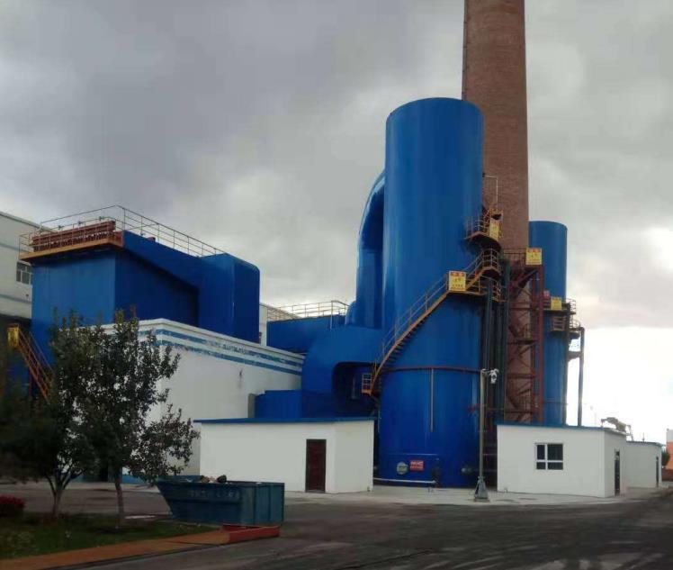 热力公司提供1台130吨+1台80吨+1台65吨链条炉袋除尘+双碱法+SNCR