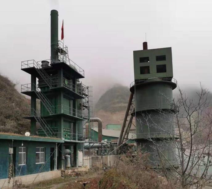 为成县华诚工贸有限公司白灰生产线提供双降对称聚分塔+脱硫+湿电设备