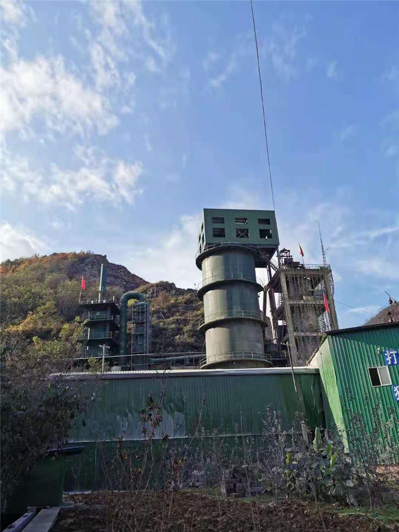 成县华诚工贸有限公司日产200吨白灰生产线:双降对称聚分塔+脱硫+湿电