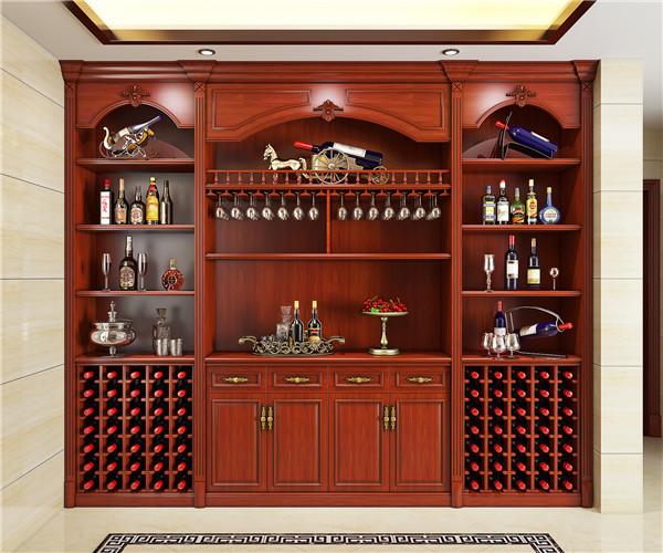 为某别墅进行酒柜定制设计!