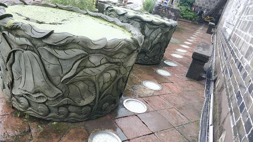 青石雕刻-水缸