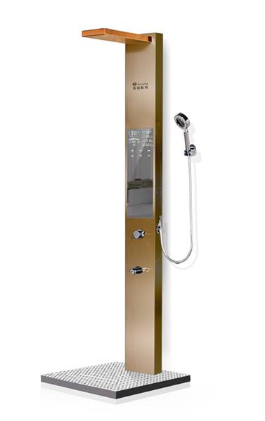 河南集成式沐浴屏-长款淋浴屏B2玫瑰金