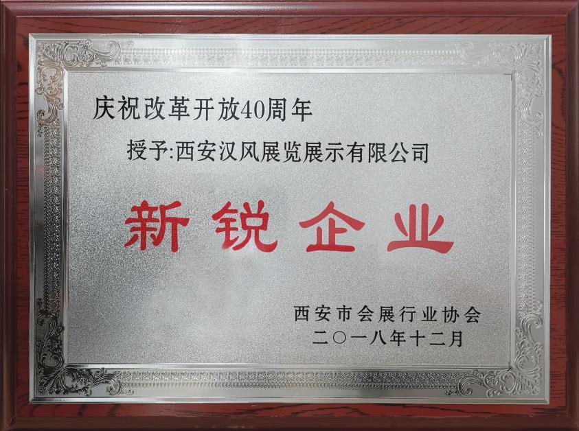 庆祝改革开放40周年新锐企业