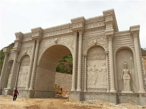 河南景观大门雕塑定制价格