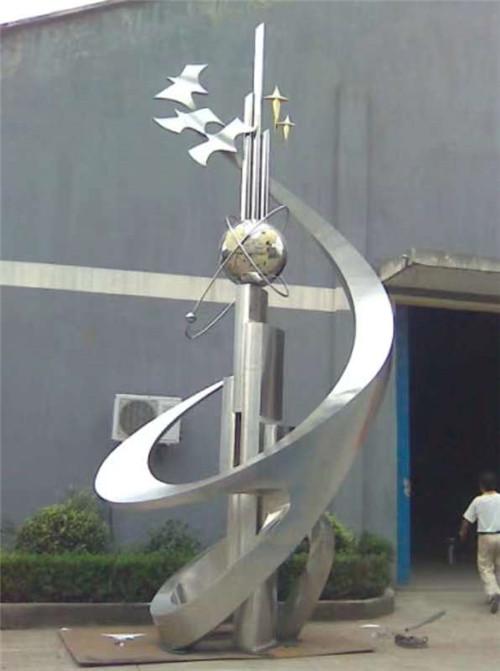 广场不锈钢雕塑工程合作案例